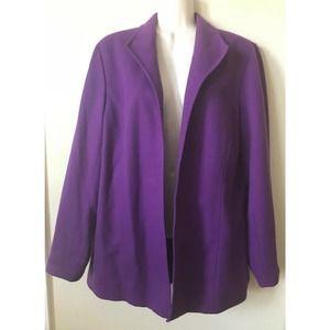 Liz Baker Lined Collared Open Front Blazer Jacket